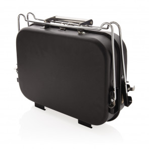 Portable deluxe barbecue in suitcase