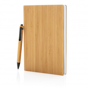 A5 Bamboo notebook & pen set
