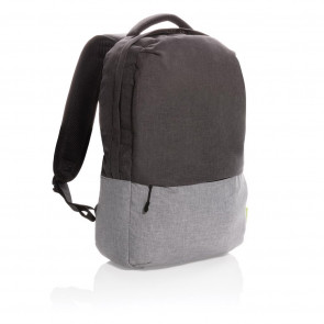 """Duo color RPET 15.6"""" RFID laptop backpack PVC free"""